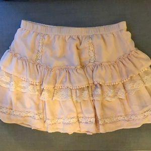 Blush Victoria's Secret Lace + Ruffle Skirt, Sz M
